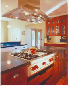 Viking rangetop with island stye hood