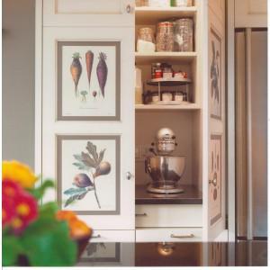 Baking centre/ appliance garage with retractable doors