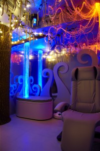 Tree of Life, Bubble Tower and Somatron Recliner w/ Fibre optics