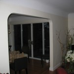 Patio doors in Dining Room