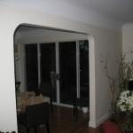 Patio doors in Dining Room