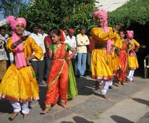 the exuberant colour of India