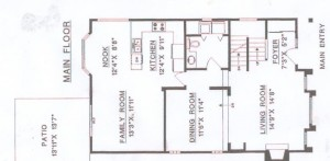 Main floor footprint